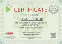 Game Design Certificate